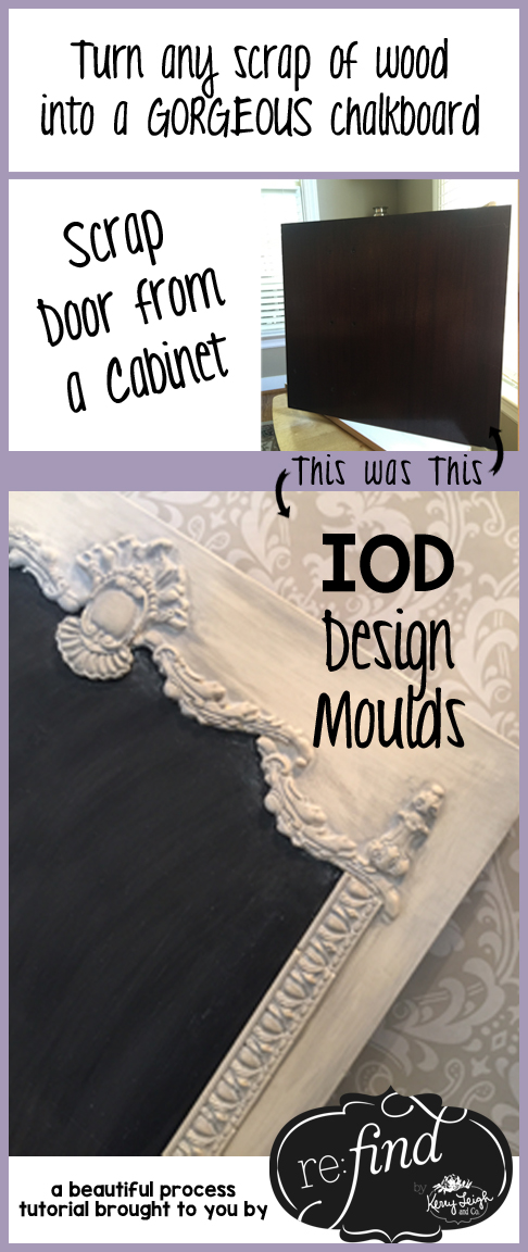 Turn any scrap of wood into a gorgeous chalkboard with Iron Orchid Design Moulds and a few painting supplies!